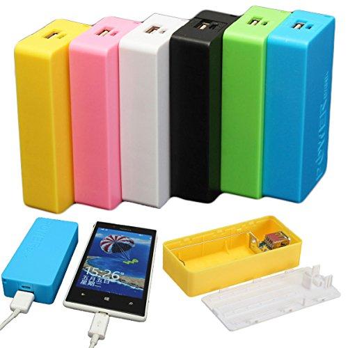 Preisvergleich Produktbild EsportsMJJ 5600mAh 2 X 18650 USB Power Bank Batterie Ladegerät Case DIY Box Für Iphone Sumsang-Schwarz