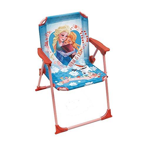 Bilira_Kids Klappstuhl Campingstuhl Gartenstuhl Stuhl Kinderstuhl Anna und ELSA Kleinkind Mädchen Spielmöbel Strandstuhl