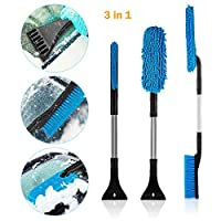 ANBET Ice Scraper for Car, 3 in 1 Snow Scraper with Brush Multifunction Detachable Car Snow Removal Tool for Windshield Glass for Ice/Frost/Snow