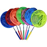 TOYMYTOY Stainless Steel Telescopic Butterfly Bug Net, Insects Catching Tools, Kids Outdoor Play