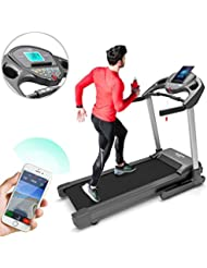 Bluefin Fitness Tapis de Course Haute Intensité Kick de Silencieux | 20 km/h + 7 ch + Inclinaison à 15% | Appli + Haut-Parleurs Bluetooth + Capteurs de Rythme Cardiaque