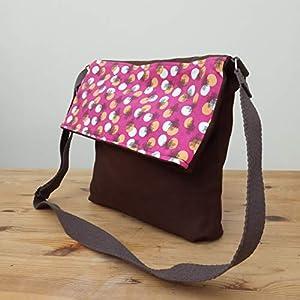 ¡¡Verkauf!! – Schulter-Tasche – Kreise, handgefertigt in Leinwand und Baumwolle