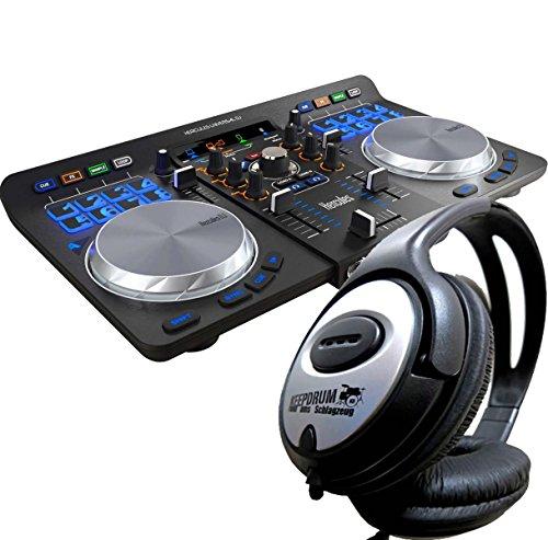 Hercules Universal DJ USB Bluetooth DJ Controller + KEEPDRUM Kopfhörer