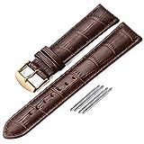 iStrap 18mm 19mm 20mm 21mm 22mm Bracelets de Montres en Cuir véritablestraps Grain...