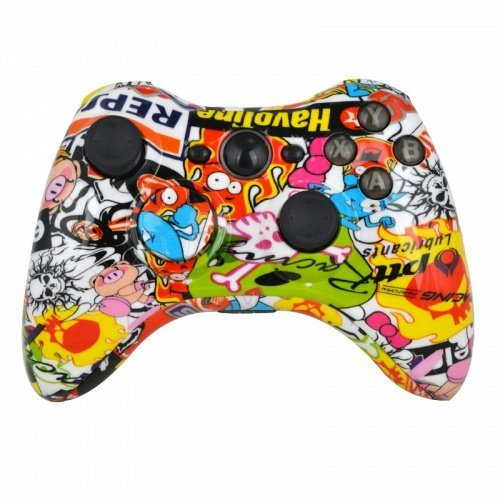 Hydro Eingetaucht Racing Graffiti Stick Bomb Wireless Controller Ersatz Shell für Xbox 360 - Hydro-stick