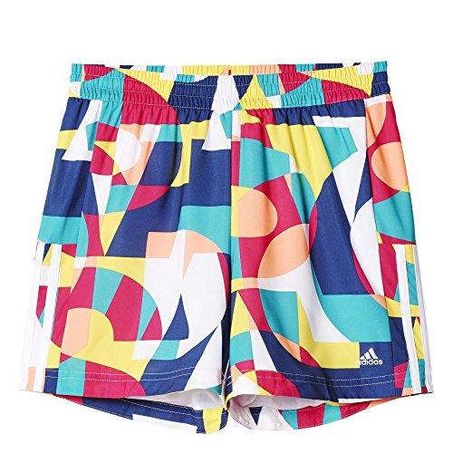 adidas Mädchen Oberbekleidung Gear Up Woven Shorts, Blau/Weiß/Gelb, 170 -