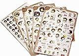 10 Blatt dekorative Aufkleber DIY Tagebuch Scrapbook Album Aufkleber,Random Stil