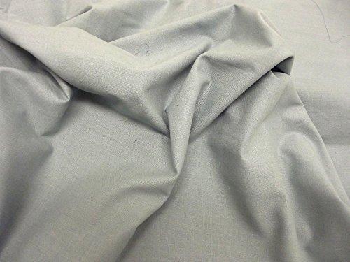 Qualität uni 60 SQ Pure Baumwolle Stoff - Salbei - 10 Mtrs - 1000cmx144cm -