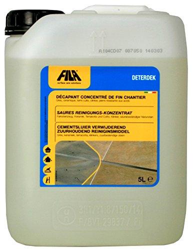 FILA Deterdek Grundreiniger und Zementschleierentferner - 5 Liter
