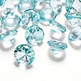 Deko-Diamanten 20 mm Türkis 10 Stück - Streudeko Deko Steine Kristalle Diamanten