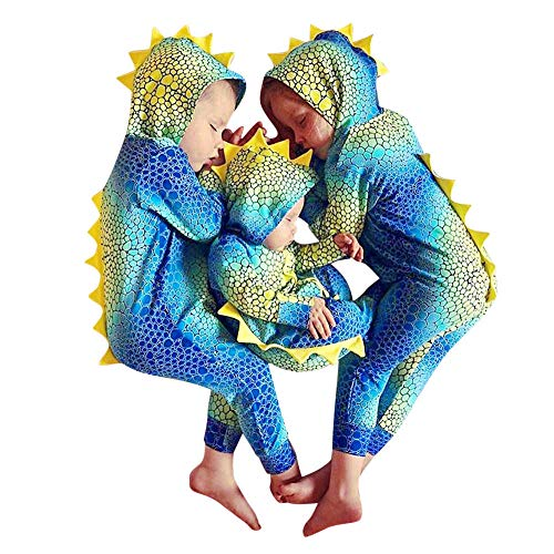 Baby Kleidung Pullover Pyjama Outfits Set Familie Infant Neugeborenes Baby Jungen Mädchen Cartoon Tiere Print Strampler Hosen Outfits Set (70, Mehrfarbig) ()