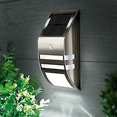 OGORI Motion Sensor Light Waterproof LED Black Nickel Wall Light for Outdoor Garden Fence Pathway Gutter Yard produced by OGORI - quick delivery from UK.