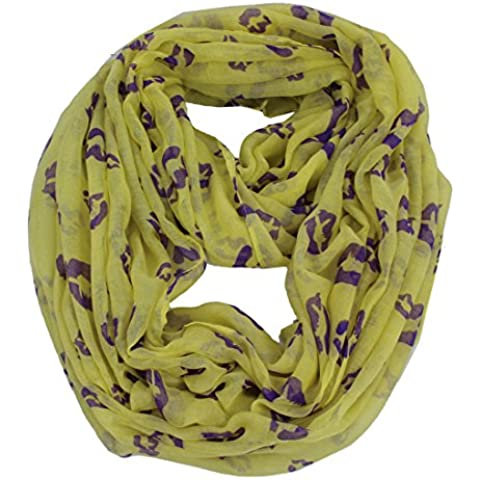 Labbra, bacio, con cappuccio da donna, in viscosa, circuito infinito Comfy a Scialle/sciarpa/scialle