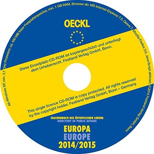 Taschenbuch des Öffentlichen Lebens Europa 2014/2015, CD-ROM; Directory of Public Affairs Europe 2014/2015 - CD-ROM Deutsch / Englisch