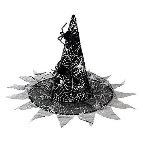 Kostüm Maskerade gruselige Party Halloween Party Dekorationen für Kinder Hüte Hexe Hüte Assistenten Hüte Kürbis Hüte, Silber Doppel Spinne hat eine 1-PCS, Hohe 40 cm Durchmesser 37 cm (Doppel Halloween Kostüme Für Kinder)