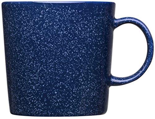 Iittala - Teema Becher - Becher mit Henkel - Duo blau - blau gesprenkelt - 0,3 l (Gesprenkelte Steingut)