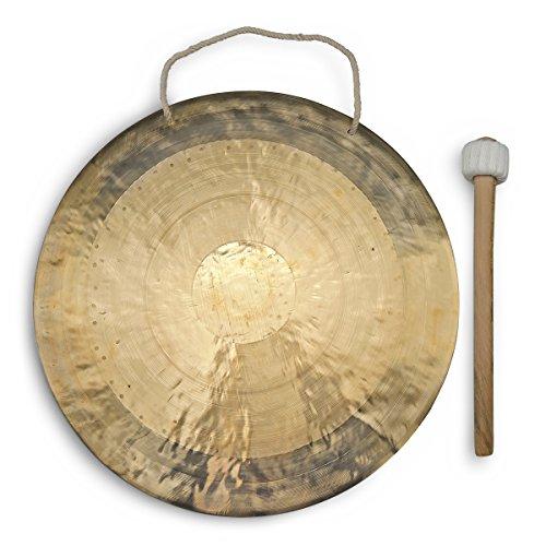 Feng Gong/Wind Gong 50 cm mit tollem Klang, inklusiv Holz-/Baumwollklöppel -7008-