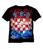 Zoonamo Kroatien Classic Shirt schwarz L
