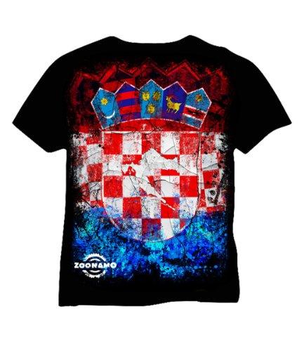 Preisvergleich Produktbild Zoonamo T-Shirt Kroatien Classic, Farbe:schwarz;Größe:M