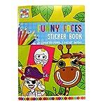 Games Funny Face Sticker & Colouring Book, Multicolour