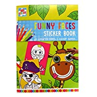 Games Funny Face Sticker & Colouring Book, Multicolour