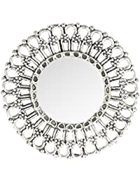 Unibrand - The Indian Handicraft Store Alloy Mirror Sun Silver Adjustable Ring for Women