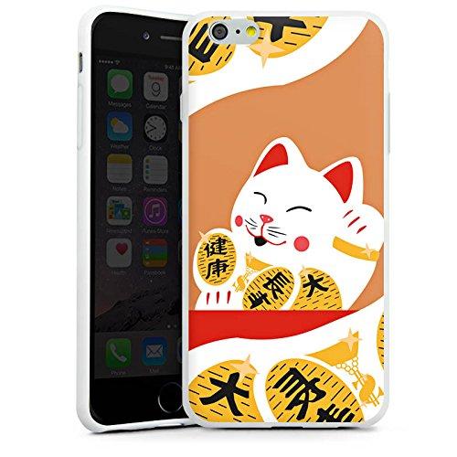 Apple iPhone X Silikon Hülle Case Schutzhülle Japan Katze Cat Silikon Case weiß