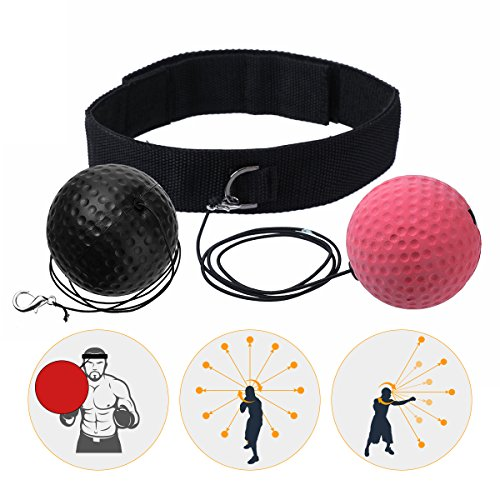 SGODDE Reflex Boxing Ball, Speed Fitness Punch Boxing Ball con Archetto, Speedball Training Device per Allenamento di Boxe a casa e all'aperto