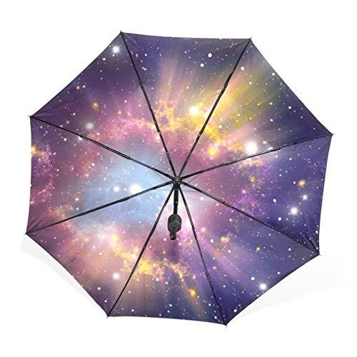3b1e31a6b7ce MVBGLK Galaxy Nebula Starry Night Sky Paraguas Plegable Completamente  automático Hombre Comercial Compacto Windproof Woman Umbrella Sun