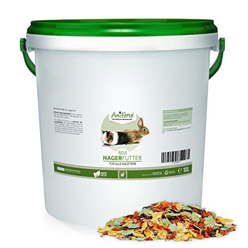 AniForte Natur Nagerfutter 10 Liter für Hamster, Meerschweinchen, Kaninchen - Qualitäts-ID: OLP C 09