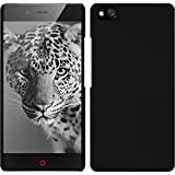 PhoneNatic Coque Rigide Compatible avec ZTE Nubia Z9 Mini - gommée Noir - Cover Cubierta + Films de Protection
