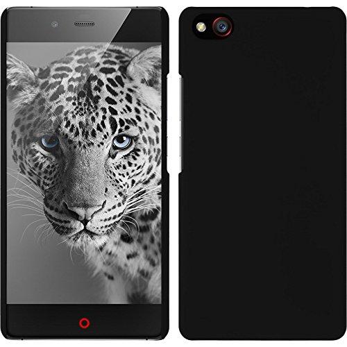 PhoneNatic Case kompatibel mit ZTE Nubia Z9 Max - Hülle schwarz gummiert Hard-case + 2 Schutzfolien