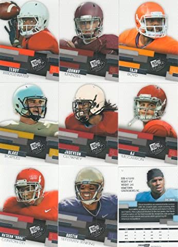 2014 Press Pass Football Complete Mint 50 Card Hand Collated