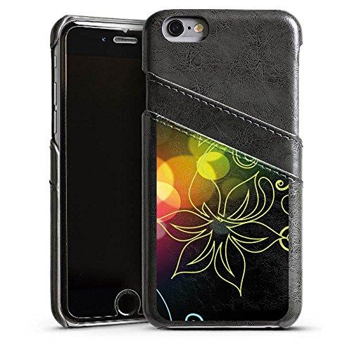 Apple iPhone 4 Housse Étui Silicone Coque Protection Fleurs Fleurs Lumière Étui en cuir gris
