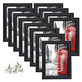 Umi. Essentials schwarzer Bilderrahmen für Bilder 10x15cm 12er Set Wandgalerie
