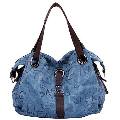 Pairs D, Borsa a zainetto donna marrone Brown large Blue