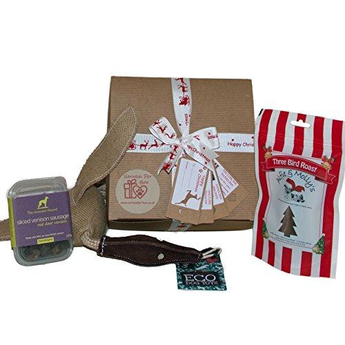 Luxury Dog Christmas Box Present Gift Hamper by Natural Pet Box