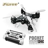 FQ777- 124C araña RC Quadcopter Mini Drone cámara HD 3d rollo una clave para volver Modo Dual 4 ch 6 axis gyro rc Hexacopter con un Makibes lector de tarjetas