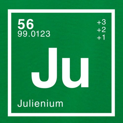 Julien Periodensystem - Damen T-Shirt - 14 Farben Grün