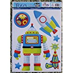 Boys Kids Childrens Childs Baby Nursery Playroom Bedroom Robot Cyborg Space Rocket Sci-fi Alien Wall Furniture Stickers Decals Stickarounds Decor