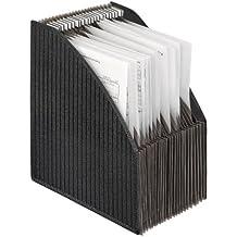 Veloflex 4446280 - Stehsammler-Fächerbox A4, 6-56 cm, schwarz