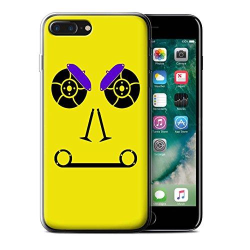 Stuff4 Gel TPU Hülle / Case für Apple iPhone 7 Plus / Turbo/Grün Muster / Autoteile Gesichter Kollektion Bremsen/Gelb