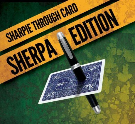 Preisvergleich Produktbild Sharpie Through Card SHERPA Version (DVD and Gimmick) Blue by Alakazam Magic - DVD