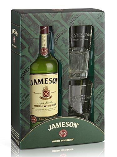 Jameson Irish Whiskey mit Geschenkverpackung mit 2 Gläsern (1 x 0.7 l)