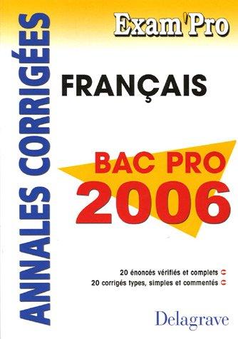 Français Bac Pro 2006