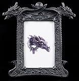 Drachen Bilderrahmen - Zwei Drachenköpfe - Fantasy Gothic
