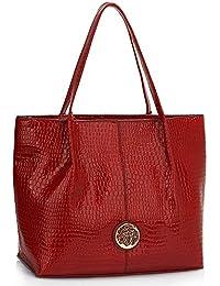 f14e1b4f880b2 Ladies Snake Skin Effect Handbag Women Shoulder Large Designer Bag New Top  Zip Best For Office