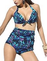 RETRO Stripe Swimsuits Suits Swimwear Vintage Bandeau HIGH WAISTED Bikini Set