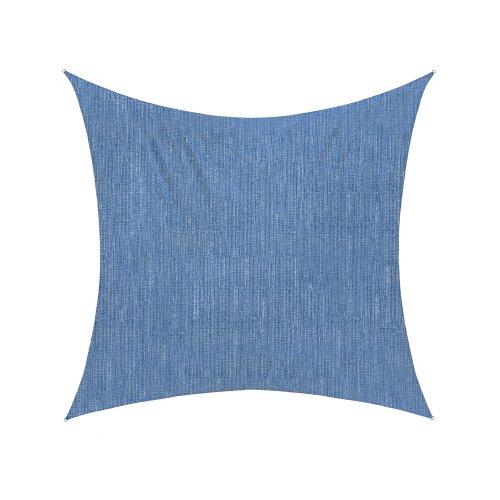 Jarolift Voile d'ombrage | Toile d'ombrage | Carré | Tissu respirant | 360 x 360 cm, bleu azur