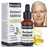 Retinol Serum, mit Hyaluronsaure Serum, Vitamin E, Beste Anti Aging Serum, feine Linien, Faltchen und Akne, Alle Hauttypen, 30ml